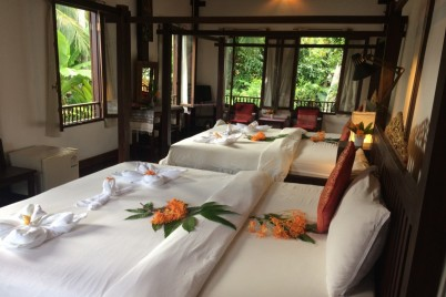 Khoum Xieng Thong Villa - Deluxe Family Room with Garden View
