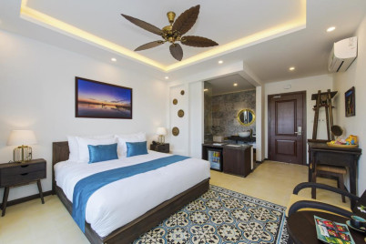 Cilantro villa Hoi An - Deluxe Double Room with River View