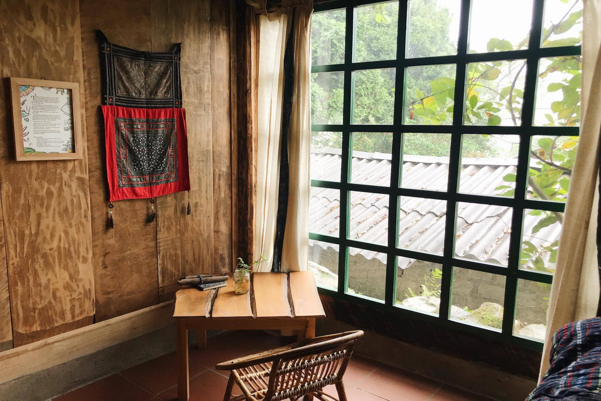 Phơri's House By the Creek - Ground Floor Room with Mountain View
