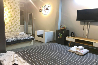 Mộc Homestay Nha Trang - Twin Double Bedrooms with Street View